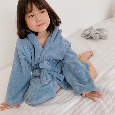 2020新款-浴袍 适合身高170cm以下 蓝灰