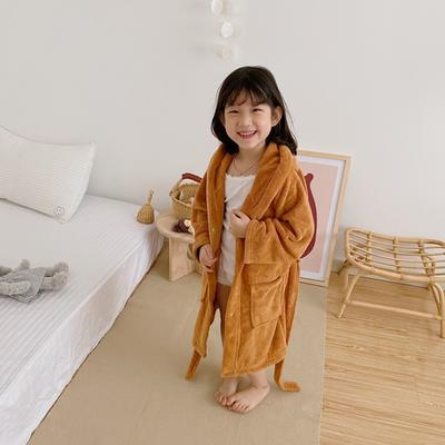 2020新款-浴袍 适合身高170cm以下 棕色