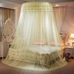 圆顶蚊帐 大小床通用 米黄