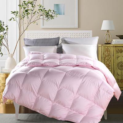 2019新款羽绒被 全棉羽绒被第二风格 150*200cm4斤 粉色