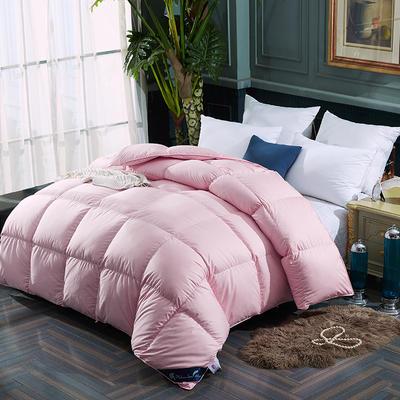 2019新款大方格羽绒被冬被 150x200cm春秋款4斤 粉色