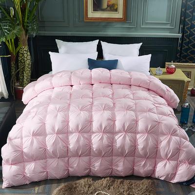 2019新款扭花羽绒被冬被 150x200cm春秋款4斤 粉色