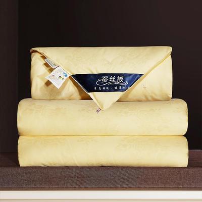 2020新款40牡丹花蚕丝被 150x200cm  3斤 黄色