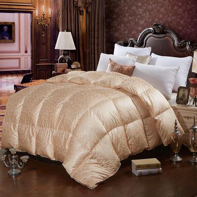 2019新款真丝羽绒被皇室贵族鹅绒被冬被加厚被芯 150x200cm春秋被4斤 玫瑰金