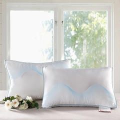 2015新款羽丝绒 蓝色彩棉枕