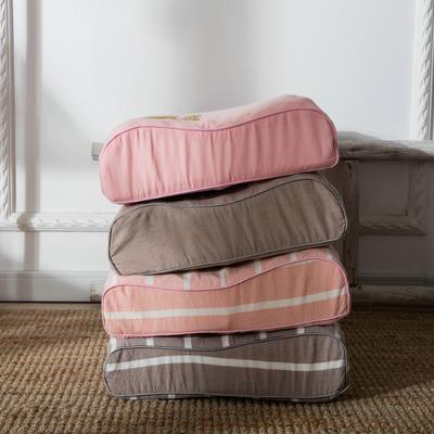 无印良品风乳胶高低枕 40*60cm/只粉色