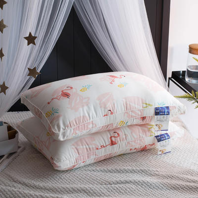 2018新品火焰鸟羽丝枕枕芯枕头 火焰鸟羽丝枕