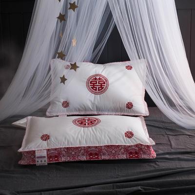 2018新品【婚庆系列】羽丝绒枕芯枕头 【婚庆系列】羽丝绒枕