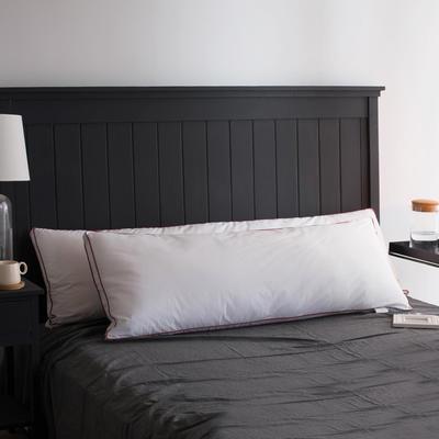 2018新品立体红边双人羽丝枕头枕芯 双人枕120x48cm