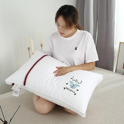 2019新款全棉羽丝绒枕头枕芯(48*74cm) 蓝蝴蝶(48*74cm/只)