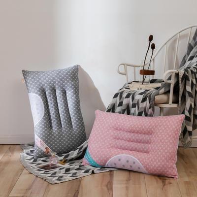 2019新款-螺旋决明子枕48*74 灰色螺旋决明子枕/个