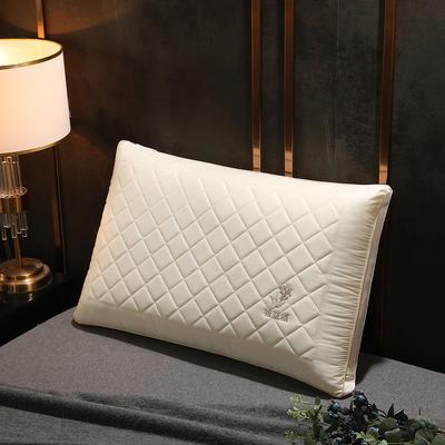 2020新款羽丝绒枕头枕芯(48*74cm/只) 板蓝根羽丝绒枕-白色