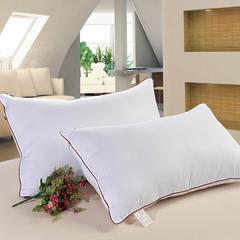 木果枕芯  红边回子格纤维枕芯 红边磨毛回子枕
