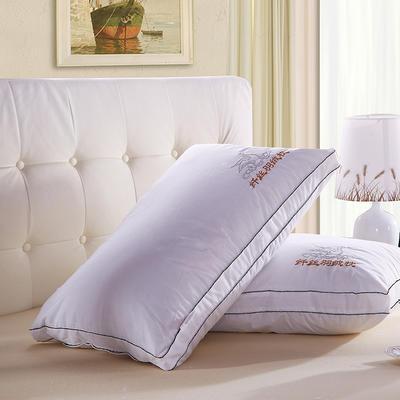 星级酒店羽丝绒枕芯  黑边羽丝绒枕芯  老鸭枕护颈高弹枕芯 纤丝羽丝绒枕