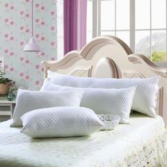 木果枕芯  全棉针织双人水立方枕 水立方羽丝绒枕  1.2米