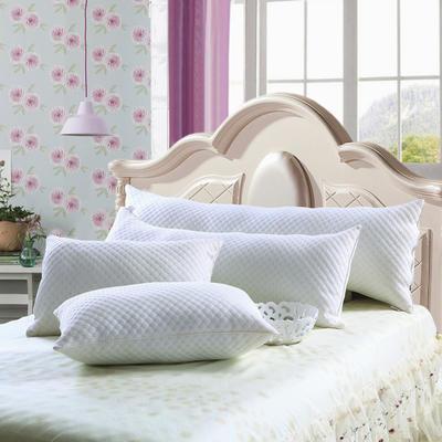 全棉针织双人水立方枕 水立方羽丝绒枕  1.5米