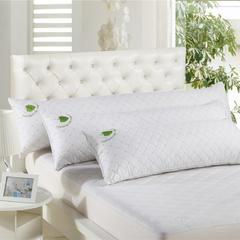 木果枕芯   全棉绗缝双人蚕丝枕 双人绗缝蚕丝枕  1.2米