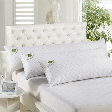 全棉绗缝双人蚕丝枕
