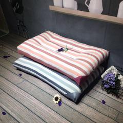 木果枕芯  彩条纹水洗护颈枕芯 彩棉水洗枕  蓝色  粉色 颜色下单备注