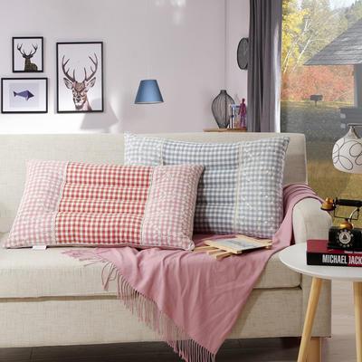 全棉蕾丝水洗枕 蕾丝水洗枕  蓝色 粉色  颜色下单备注
