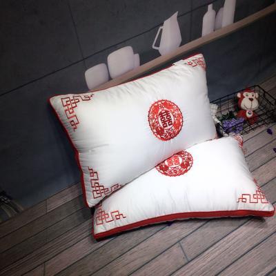 婚庆中国元素刺绣羽丝绒枕 婚庆中国元素刺绣羽丝绒枕
