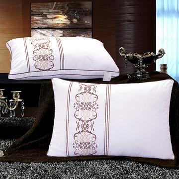 五星级酒店刺绣羽丝绒枕