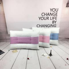 木果枕芯    简约绗缝网格药物护颈枕 网格药物护颈枕   蓝色