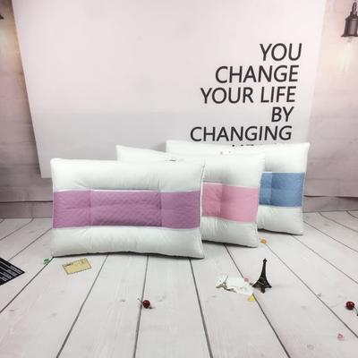 简约绗缝网格药物护颈枕 网格药物护颈枕    紫色