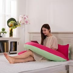 木果枕芯   第三代多功能孕妇枕   颜色请备注 多功能孕妇枕  玫红绿