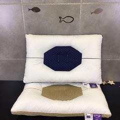 木果枕芯     凹型护颈枕 凹型护颈枕   蓝色