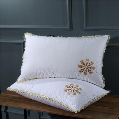 绗缝太阳花羽丝绒枕 绗缝太阳花羽丝绒枕