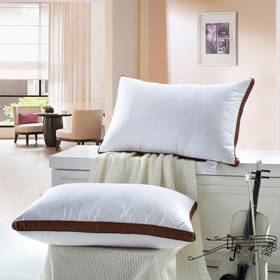星级酒店咖啡边羽丝绒枕 星级酒店咖啡边羽丝绒枕