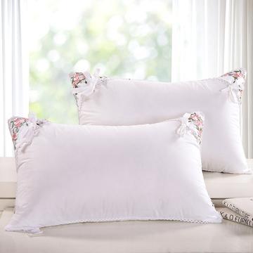 角绣茉莉花羽丝绒枕