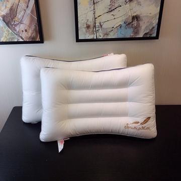 弧形水洗羽丝绒枕