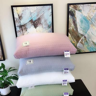 新品  全棉针织亲肤羽丝绒枕 全棉针织亲肤羽丝绒枕  粉色