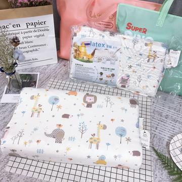 纱布儿童乳胶枕     动物世界