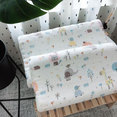 新品泰国天然儿童纱布乳胶枕头枕芯   动物世界 2745 动物世界