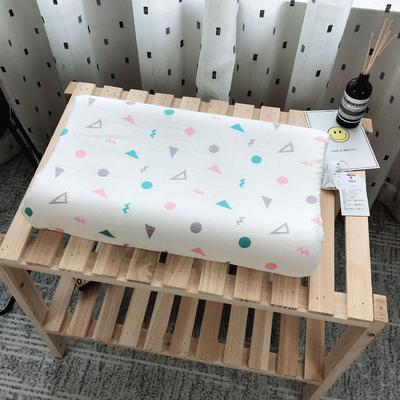 新品泰国天然儿童纱布乳胶枕头枕芯   几何图 2745 几何图