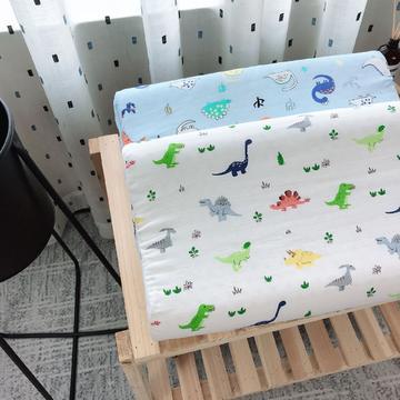 新品泰国天然儿童纱布乳胶枕头枕芯   恐龙乐园
