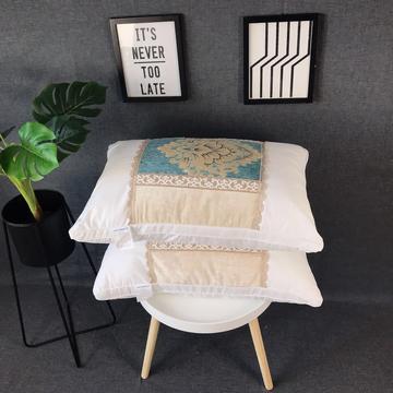 新品富贵花奢华羽丝绒枕头枕芯