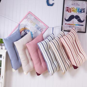 全棉彩色彩条水洗枕头