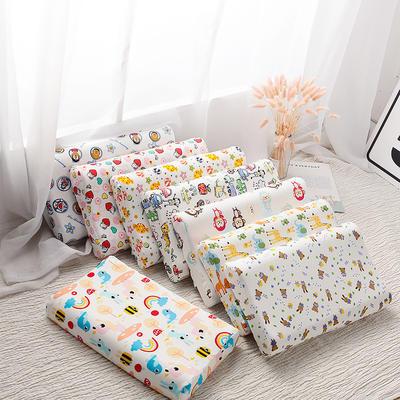 抖音 网红 淘宝促销乳胶枕头 天然泰国乳胶枕芯护颈枕头记忆枕 乳胶儿童款   27*45