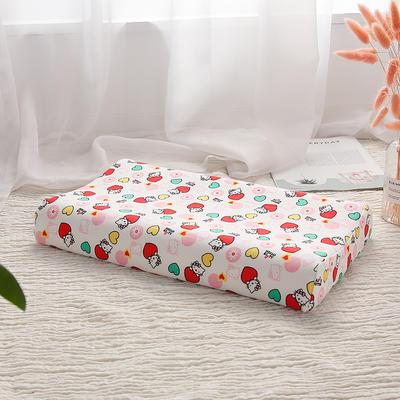 网红 淘宝儿童乳胶枕头 促销泰国学生乳胶枕芯1-3-8-12岁护颈枕 30*50大童款 爱心KT