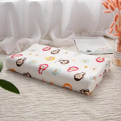 网红 淘宝儿童乳胶枕头 促销泰国学生乳胶枕芯1-3-8-12岁护颈枕 30*50大童款  猴子