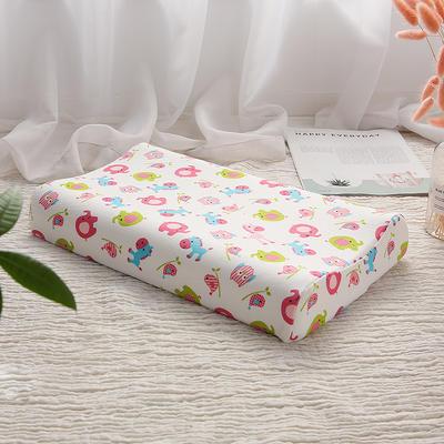 网红 淘宝儿童乳胶枕头 促销泰国学生乳胶枕芯1-3-8-12岁护颈枕 27*45小童款  动物乐园 粉色