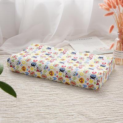 网红 淘宝儿童乳胶枕头 促销泰国学生乳胶枕芯1-3-8-12岁护颈枕 30*50大童款  ABC