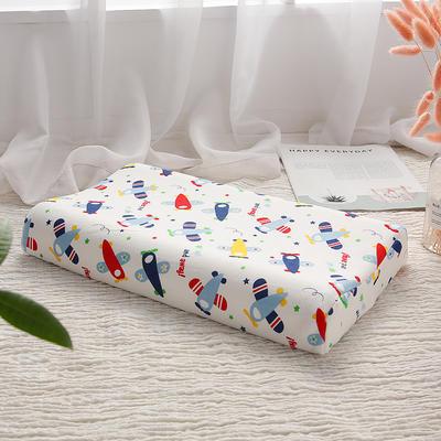 网红 淘宝儿童乳胶枕头 促销泰国学生乳胶枕芯1-3-8-12岁护颈枕 30*50大童款 飞机