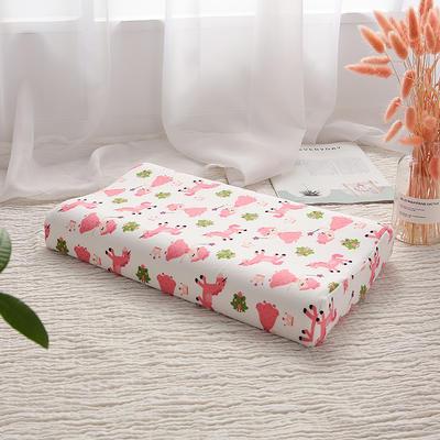 网红 淘宝儿童乳胶枕头 促销泰国学生乳胶枕芯1-3-8-12岁护颈枕 27*45小童款    小公主