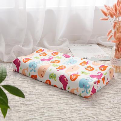 网红 淘宝儿童乳胶枕头 促销泰国学生乳胶枕芯1-3-8-12岁护颈枕 30*50大童款  美人鱼