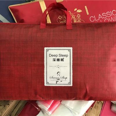 枕芯包装 无纺布手提袋 单只装枕芯包装 乳胶手提袋子 加厚 红美包婚庆包装